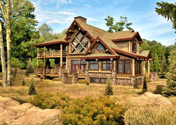 Chambeau Log Home Floor Plan By Wisconsin Log Homes Modern Log Cabins Log Cabin Kits Log Home Floor Plans