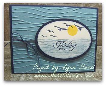 Stampin'Up! High Tide stamp set, Seaside Embossing Folder http://www.starzlstamps.com/2017/03/high-tide-stamp-set-seaside-embossing-folder.html