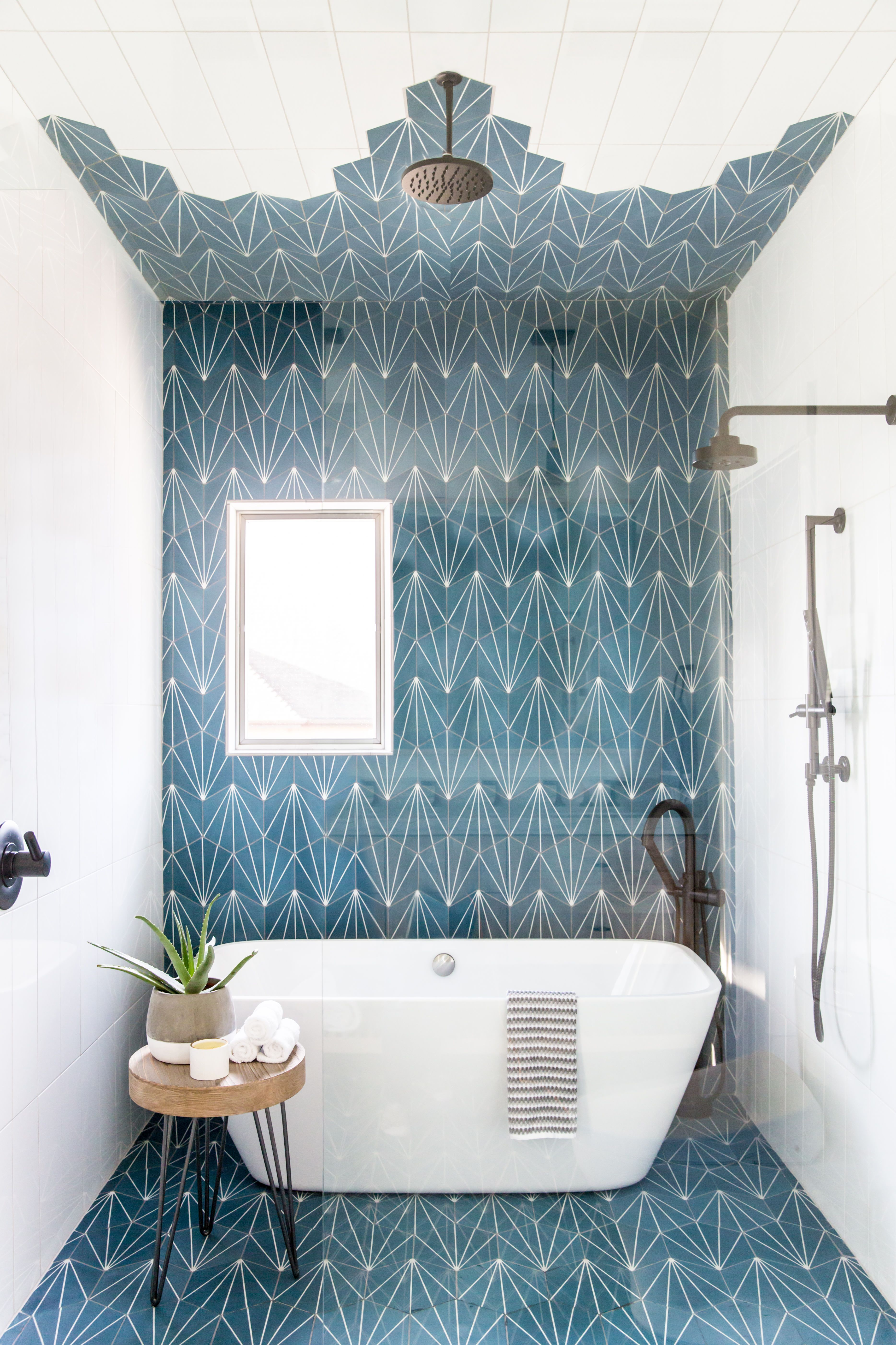 This Vibrant Jack And Jill Kids Bathroom Is Made For Sharing Home House Design House