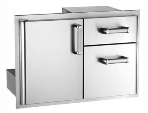 Fire Magic 43810s Premium Outside Mount 30 Inch Access Door Double Drawer Combo Outdoor Kitchen Kits Doors Stainless Steel Doors