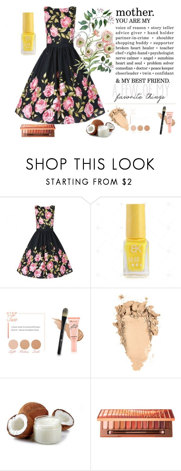 """Seven grils 55"" by difen ❤ liked on Polyvore featuring BHCosmetics, Urban Decay and vintage"