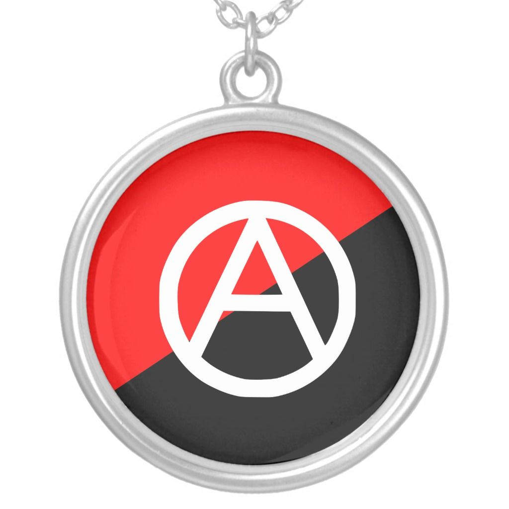 Red Black And White Anarchist Flag Anarchy Silver Plated Necklace Zazzle Com In 2020 Silver Plated Necklace Black And Red Silver