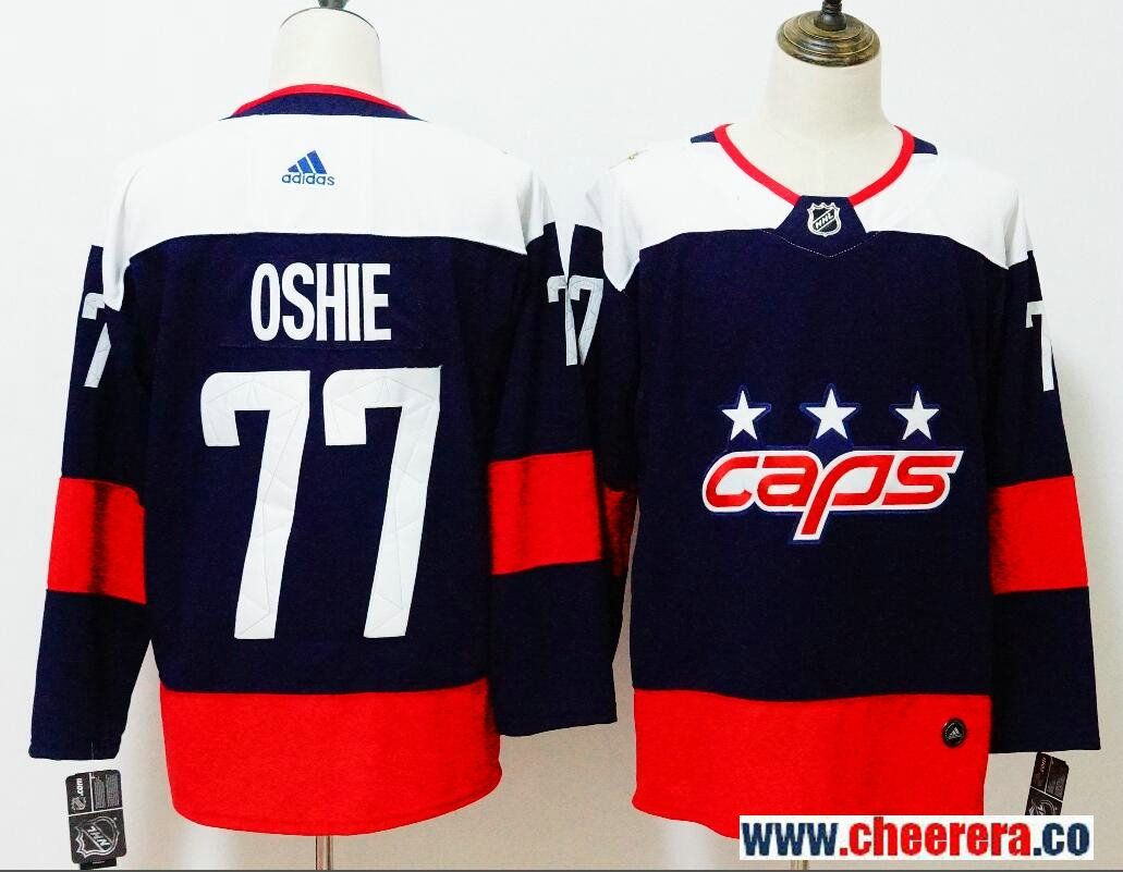 7874dd6bba4 Men s Washington Capitals  77 T.J. Oshie Navy Blue 2018 Stadium Series  Stitched NHL Hockey Jersey