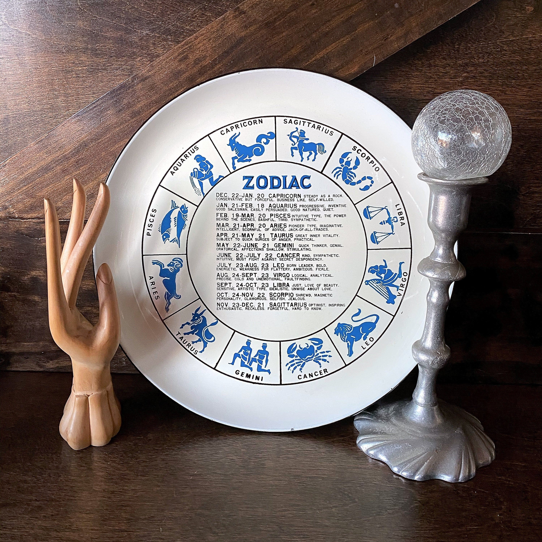 Aquarius Zodiac Plate 1960s