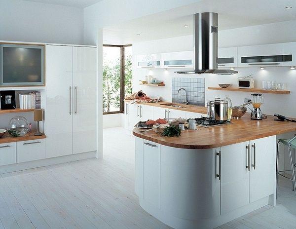 Holz-Arbeitsplatten Küche Massivholzküche Insel dark Küche - küchenschrank mit arbeitsplatte