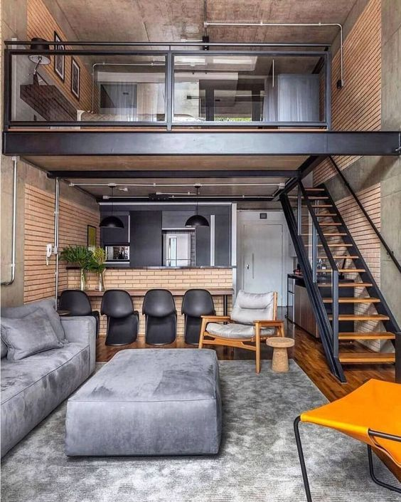 30 Awesome Loft Apartment Decorating Ideas Molitsy Blog Small Loft Apartments Loft Interior Design Tiny House Interior Design