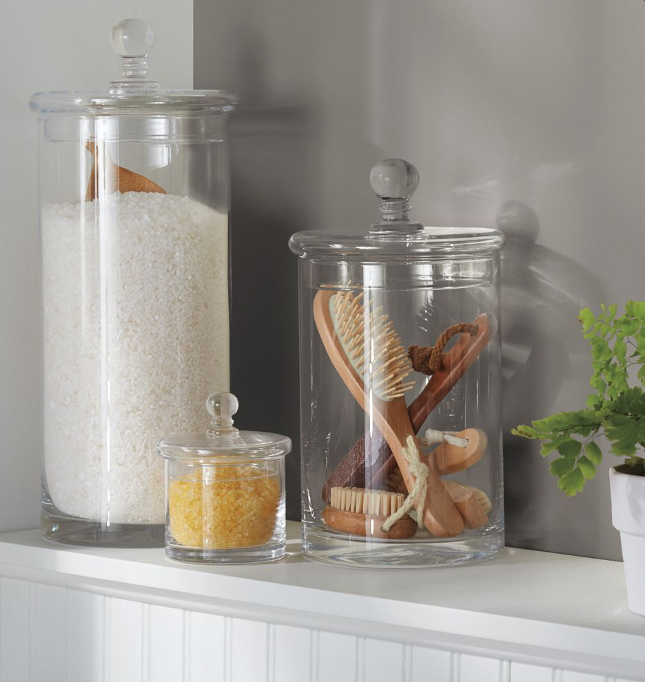 Glass Ball-Top Canister