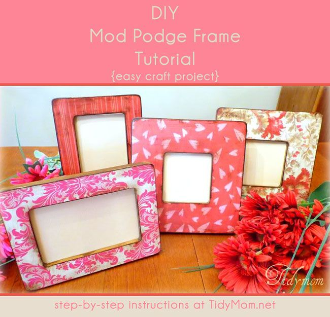 DIY easy Mod Podge Frame Tutorial. Great gift idea! Learn how to ...