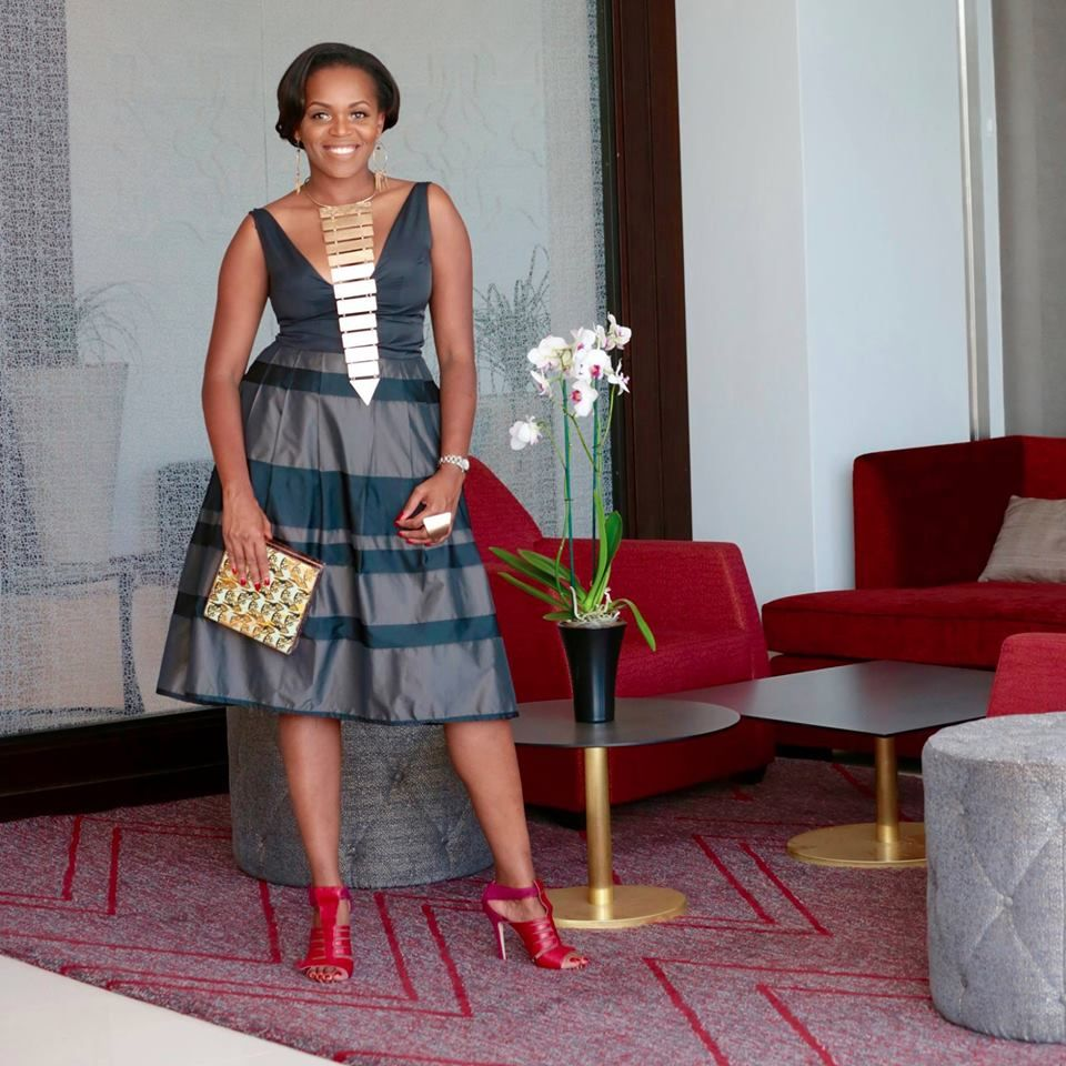 Diana Opoti in MO SAIQUE shoes africanfashion party