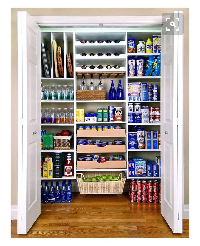 Pantry Closet With Bifold Doors Pantry Design Kitchen Pantry Design Pantry Makeover