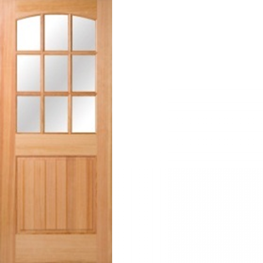 Rogue Valley Doors Fir Wood 9 Lites Low E Ig Arch Top Beaded Panel 1 3 8 Hip Raised Panel Door Raised Panel Doors Exterior Doors Panel Doors