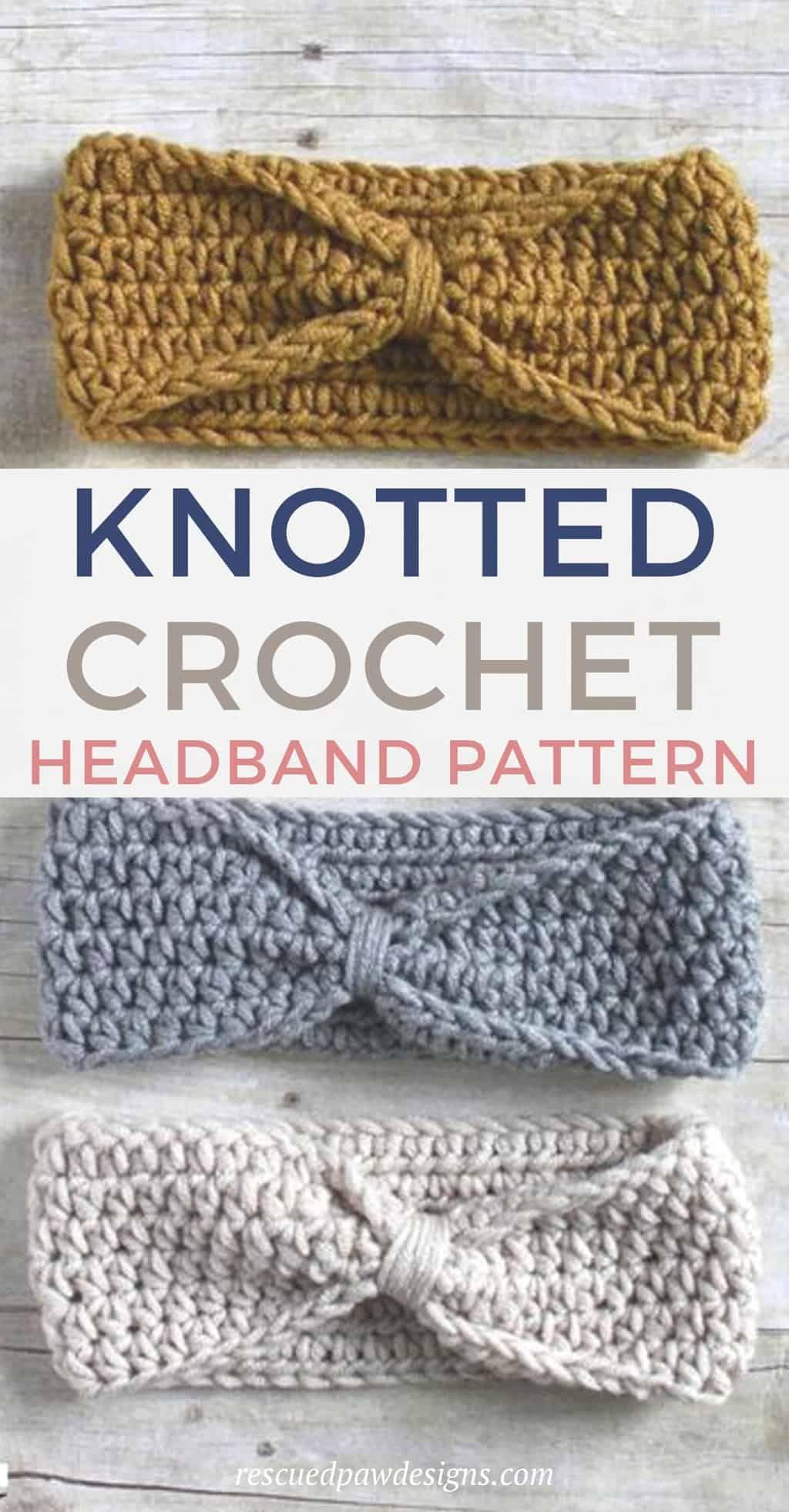 Free Knotted Headband Häkelanleitung – Rescued Paw Designs