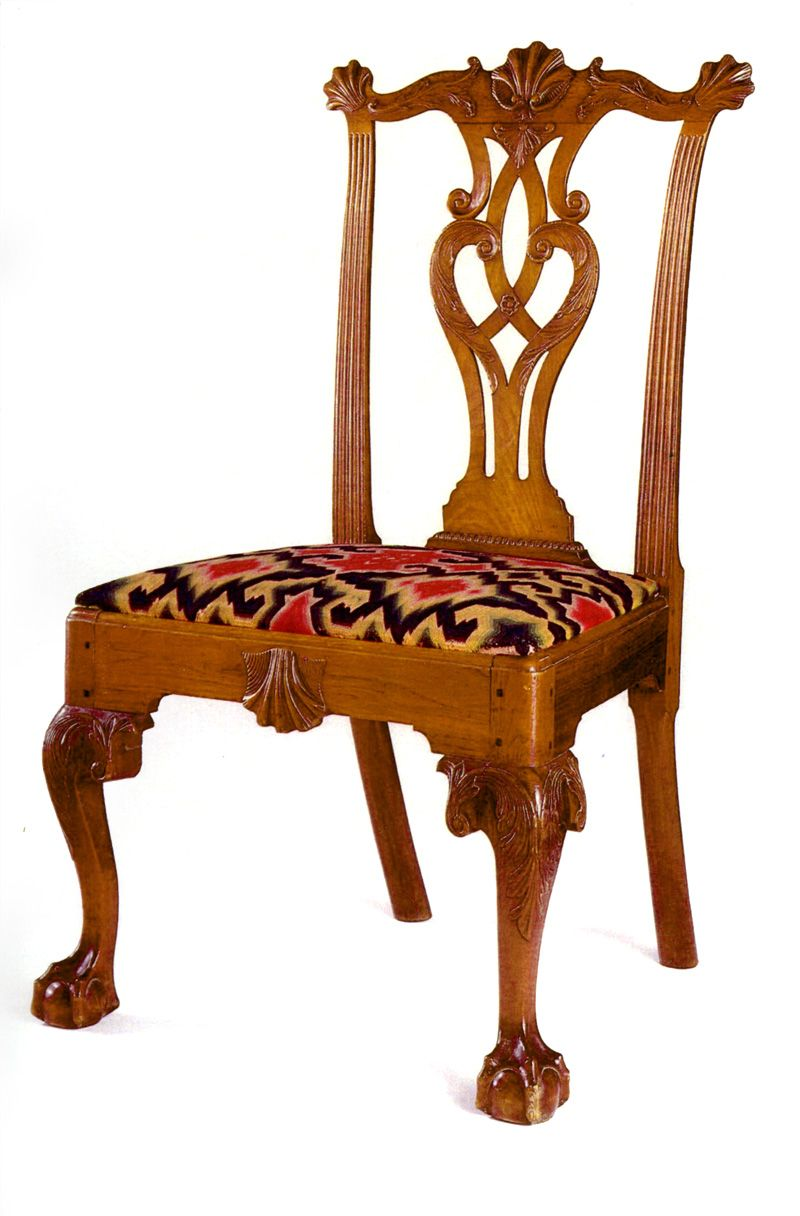 Queen anne chair history - This Shell Eared Carved Ball And Claw Foot Side Chair Is Part Of
