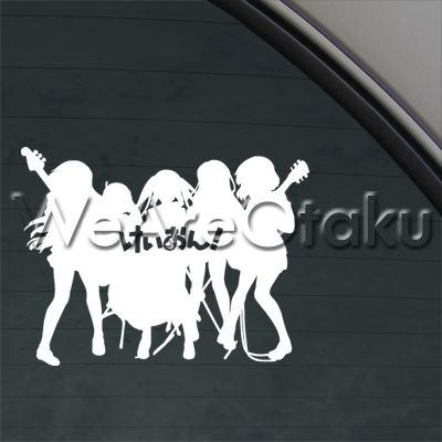 K on logo anime cartoon music band decal car sticker