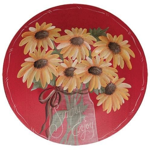 Decorative Wooden Plate Featuring Sunflowers And \u0027Simply Enjoy\u0027 Quote  sc 1 st  Pinterest & Decorative Wooden Plate Featuring Sunflowers And \u0027Simply Enjoy ...