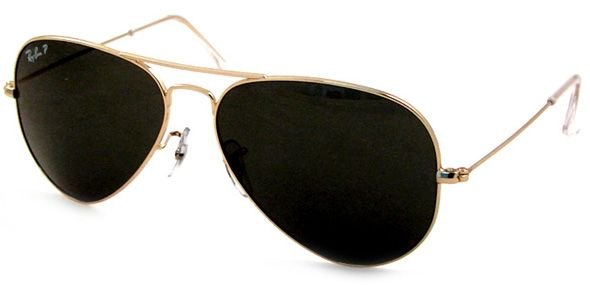 ray ban gold arista