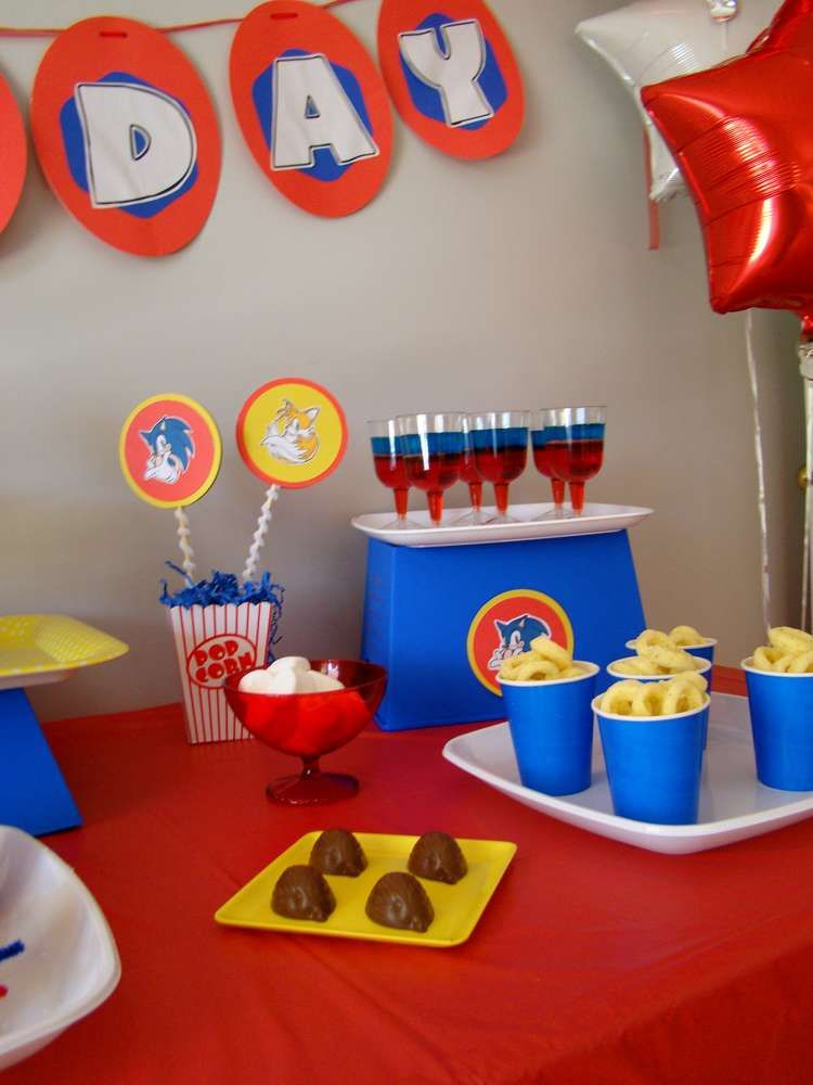 Sonic The Hedgehog Birthday Party Ideas Photo 5 Of 21 Catch My