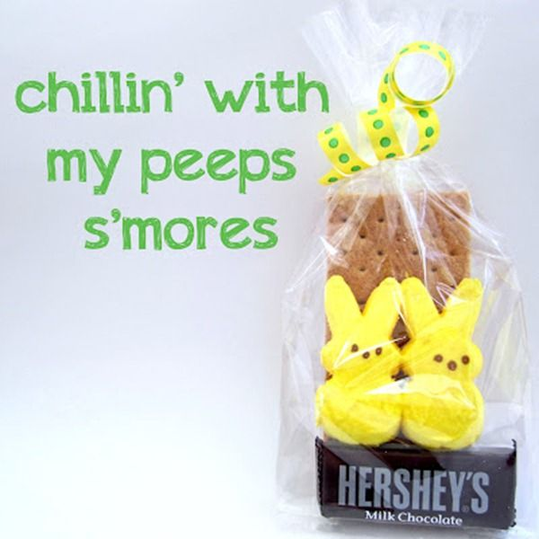 Peeps smores treat bags great for school friends baby easter party peeps smores treat bags great for school friends negle Image collections