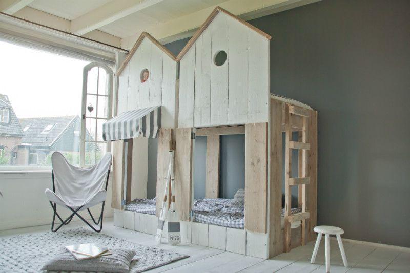 Etagenbett Landhaus : Hochbett strandhaus aus gerüstholz weiß landhaus möbel
