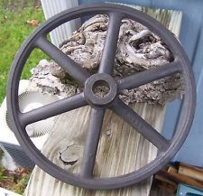 Vintage Cast Iron Wheel Pulley Gear - Browning - Maysville