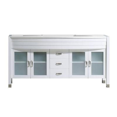 Virtu USA Ava 63 in. Double Vanity in White with Stone Vanity Top in White-MD-499-S-WH-PRST - The Home Depot