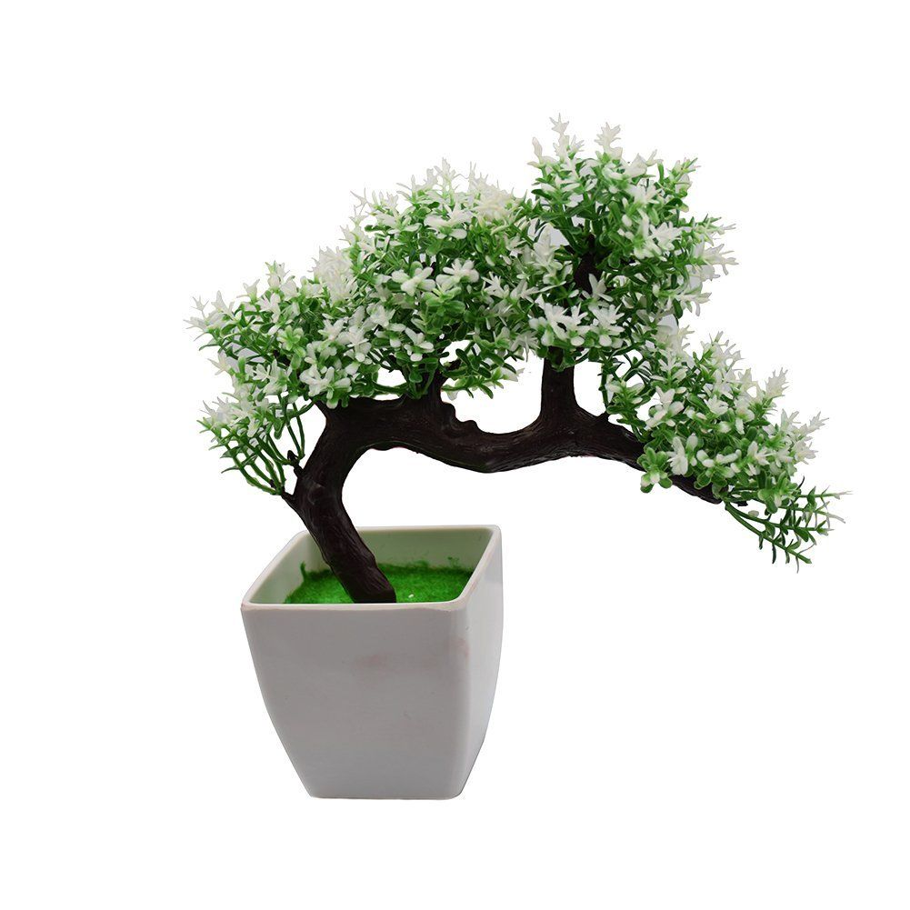 bonsai tree for office. Amazon.com: Artificial Plant Pine Bonsai Nearly Natural Tree For Home Office Decoration(white-Green): \u0026 Kitchen