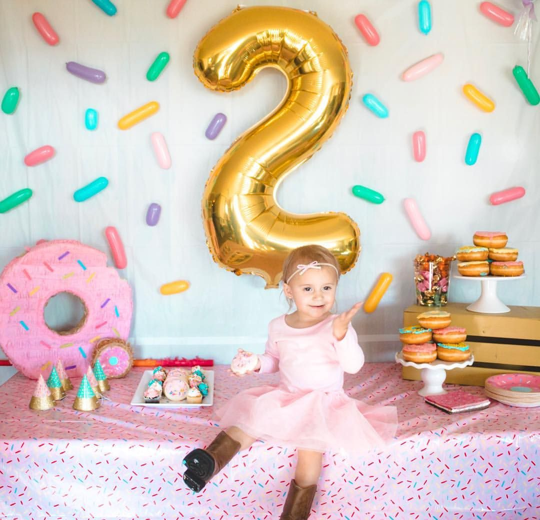 Two sweet birthday party Sprinkles, donut grow up, donut