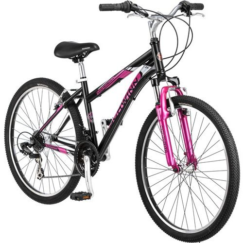 26 Schwinn Sidewinder Women S Mountain Bike Matte Black Pink