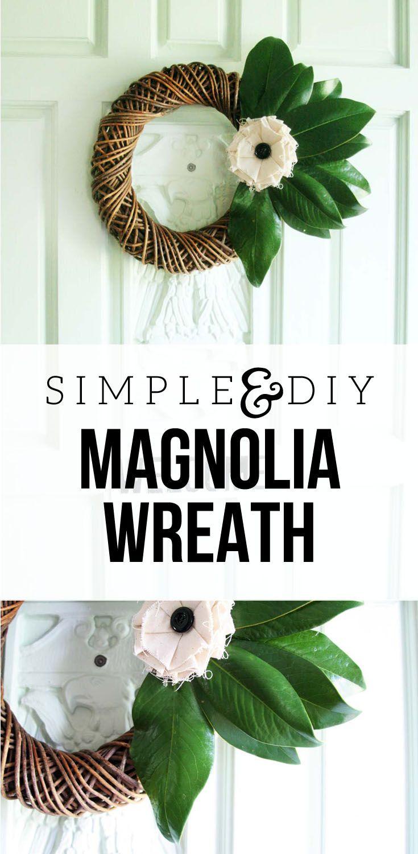 Simple DIY Magnolia Wreath : Fall Wreath Blog Hop, Simple DIY Magnolia Wreath by…