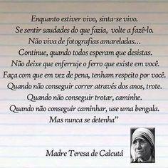 Nunca Se Detenha Bananas Pinterest Reflexão Madre Teresa E