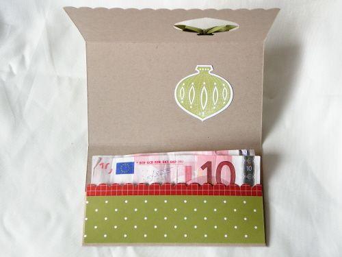 Pochette cadeau noel scrapbooking