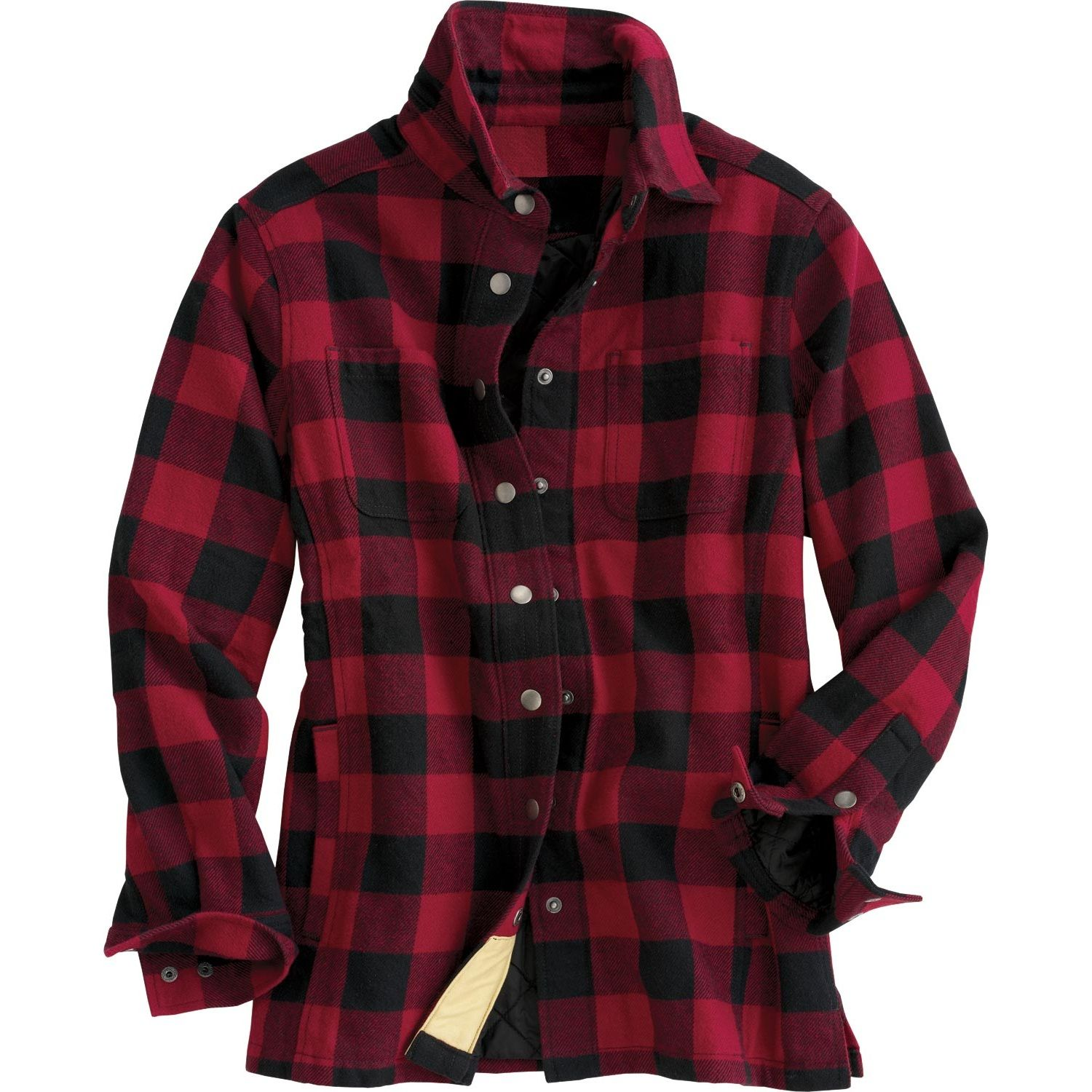 The flapjack shirt jac blends fuzzy soft flannel with a for Womens plaid flannel shirts