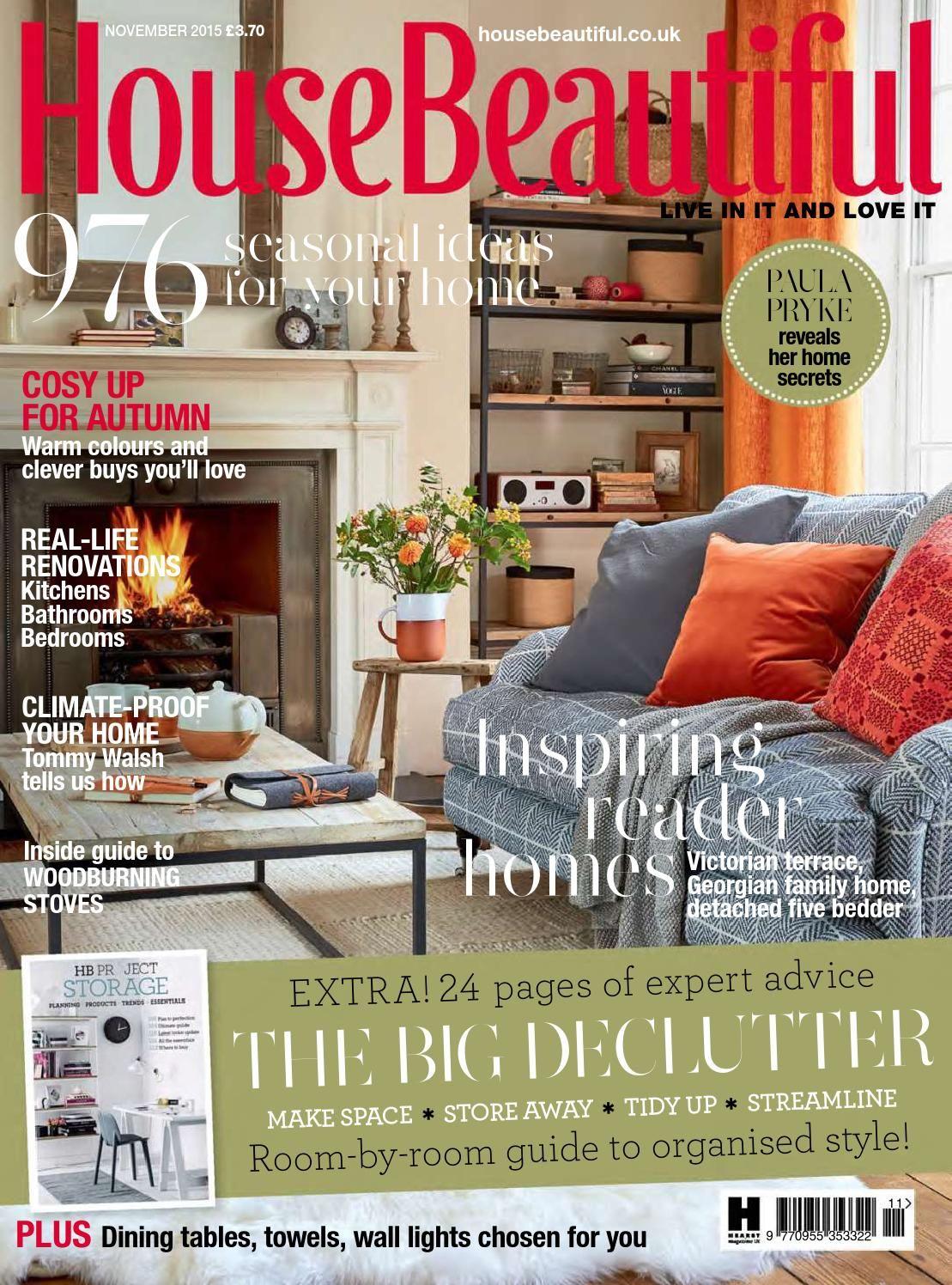 House Beautiful Magazine Issuu  House Beautiful November 2015Niko  Уютный Дом