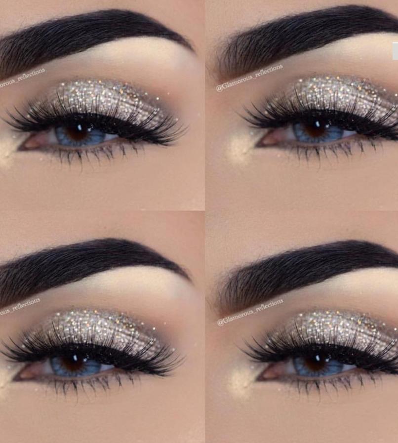 15 Simple Flawless Silver Eye Makeup