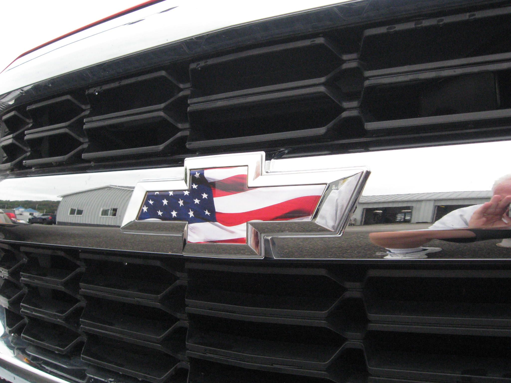 Diy chevy silverado truck american flag vinyl sheet bowtie overlays peel stick and cut