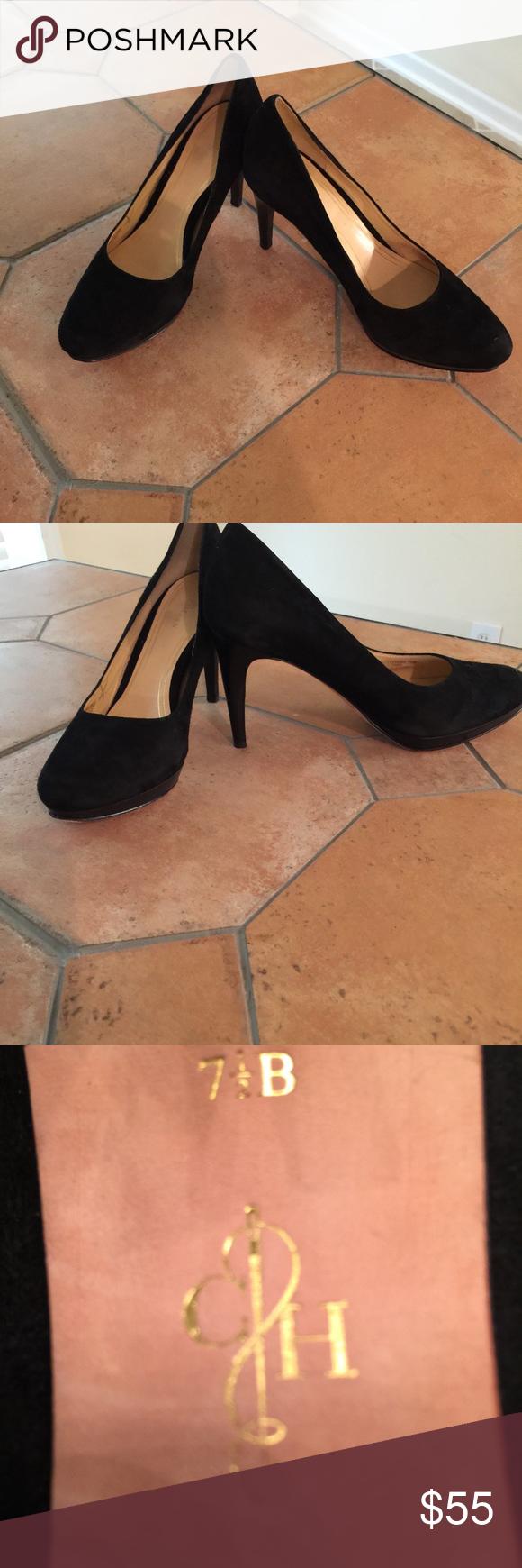 Cole Haan Black Suede  Platform Pumps Black suede platform Cole Haan pumps. Gently worn once. Nike Air insole and very omfortable.  Half inch platform and 3 inch heel. Excellent condition.  No box. Cole Haan Shoes Heels