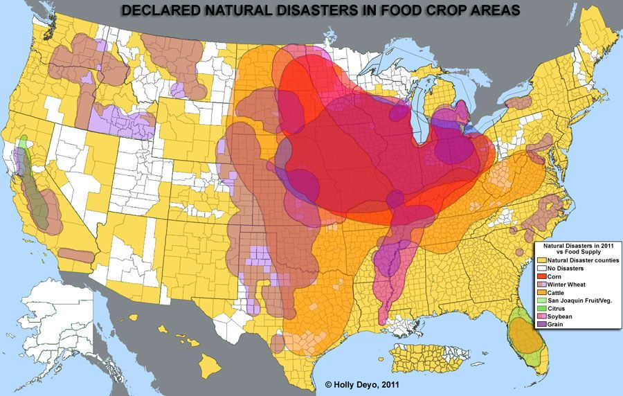 Us Disaster Map: Natural Disasters Map Usa At Slyspyder.com