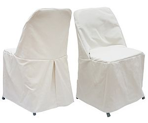 Low Cost Chair Covers Antique Living Room Styles These Slip For Metal Folding Chairs Can Be Dressed Up With Stencils Or Decorative Ribbon Across Bottom Seam