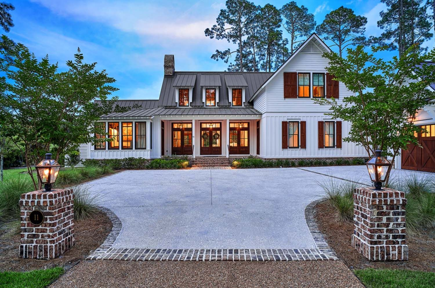 Exquisite south carolina farmhouse evoking a low country for House plans sc