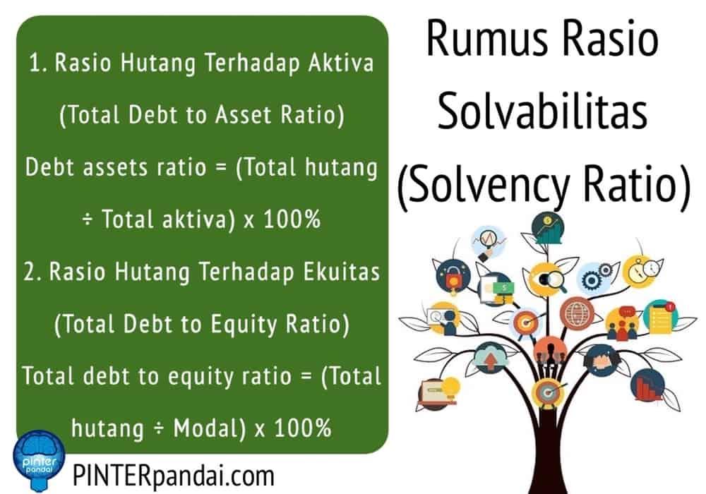 Rasio Solvabilitas Solvency Ratio Leverage Ratio Rumus Soal Jawab Akuntansi Matematika Keuangan