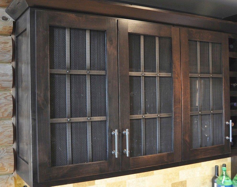 Elegant Cabinet Wire Mesh Image Gallery in Kitchen design ideas ...