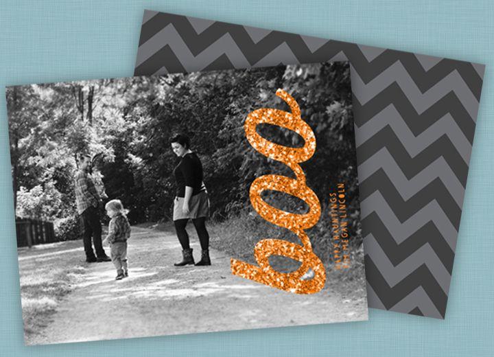 Halloween photo card ideas #Fall #Halloweencards