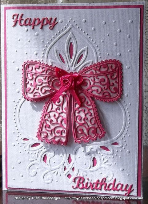 Card Tattered lace bow birthday card Tattered Lace Cards \/ Dies - birthday card sample