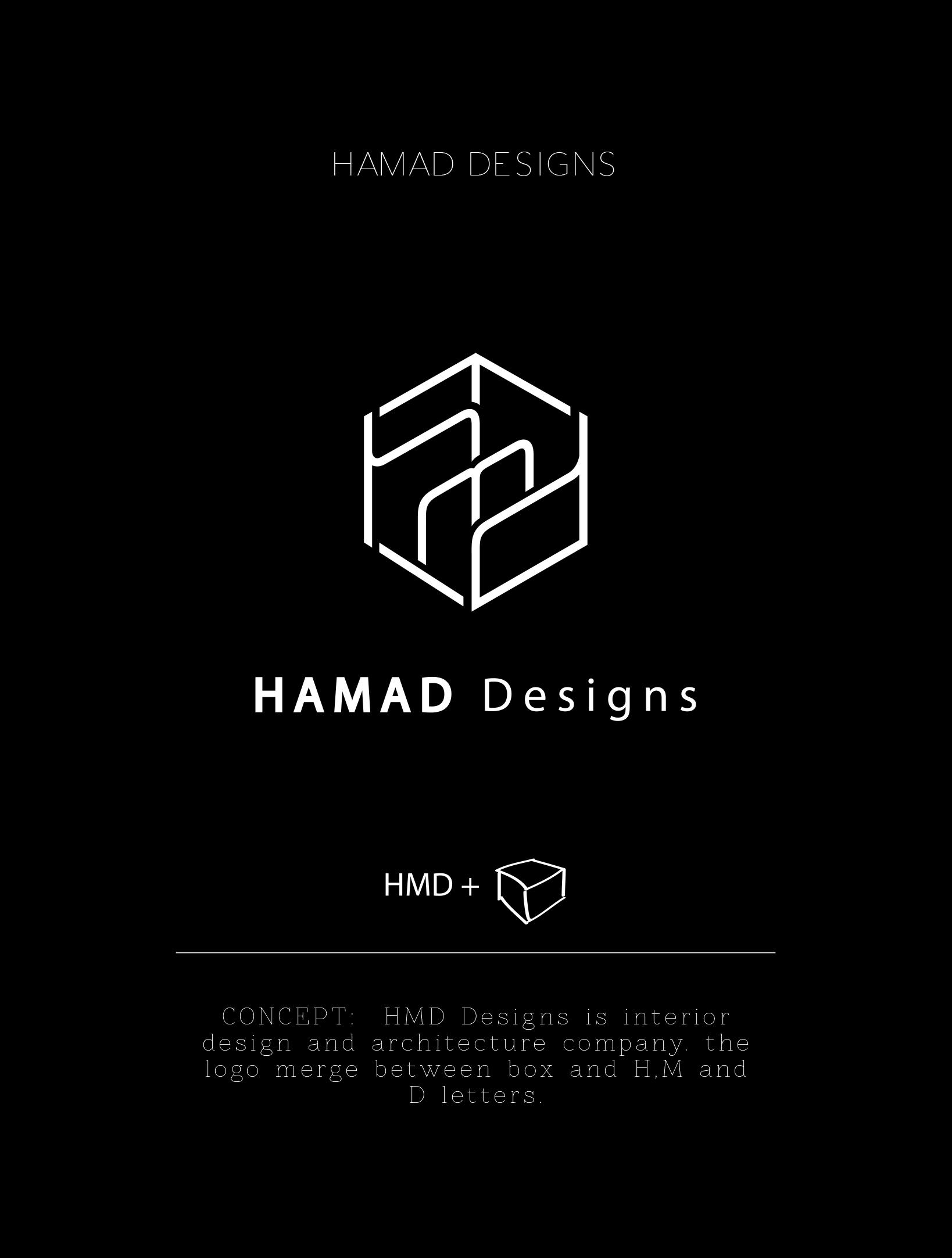 interior design logo ideas. HAMAD DESIGNS CONCEPT  HMD Designs is interior design and architecture company the logo merge