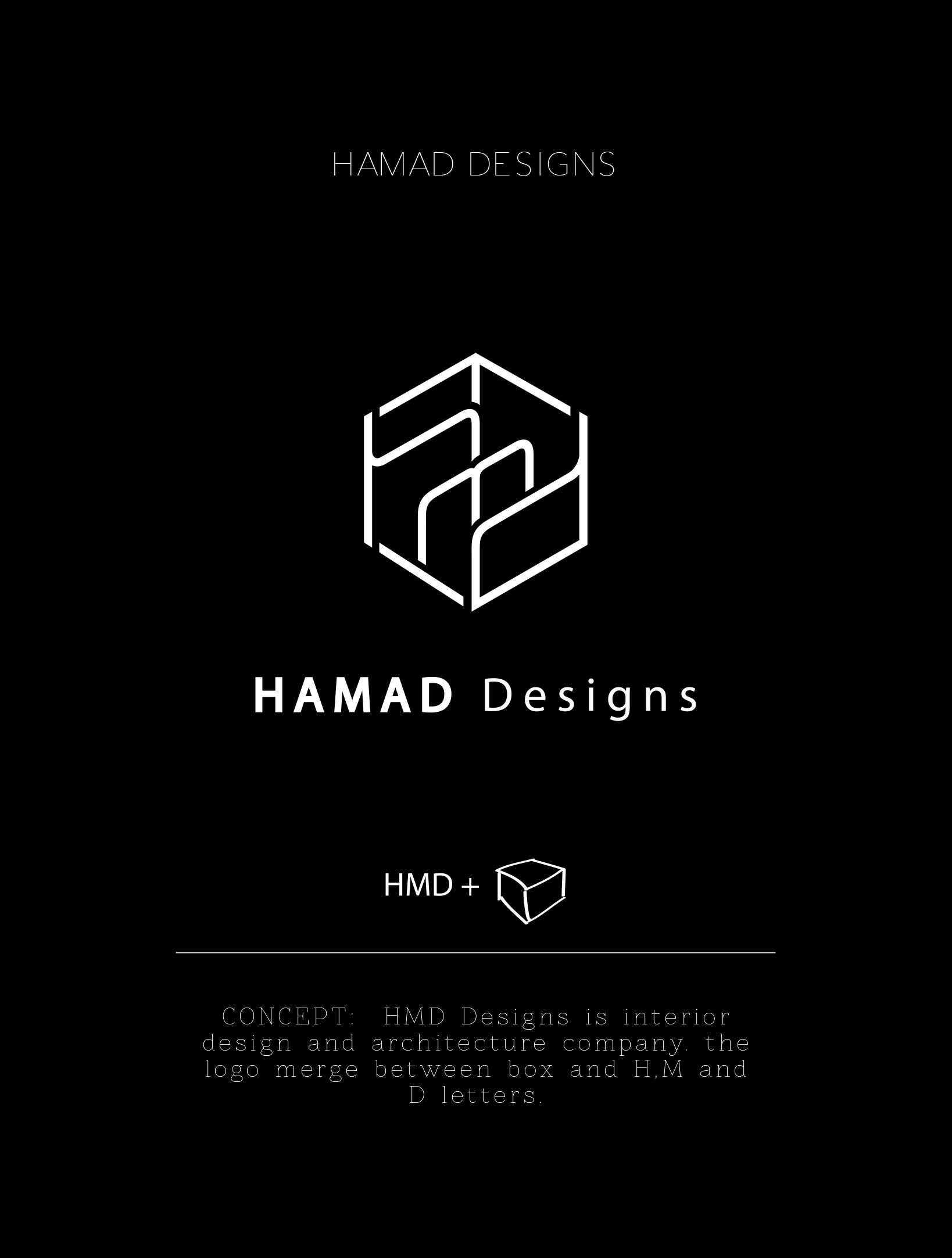 Hamad Designs Concept Hmd Designs Is Interior Design And Architecture Company The Logo Merge Betwe With Images Interior Designer Logo Architecture Company Interior Logo
