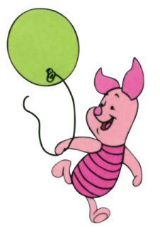 Piglet With Balloon Gabby Stuff Dibujos Animados