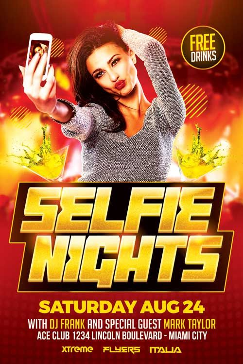 Selfie Party Flyer Template  HttpXtremeflyersComSelfieParty