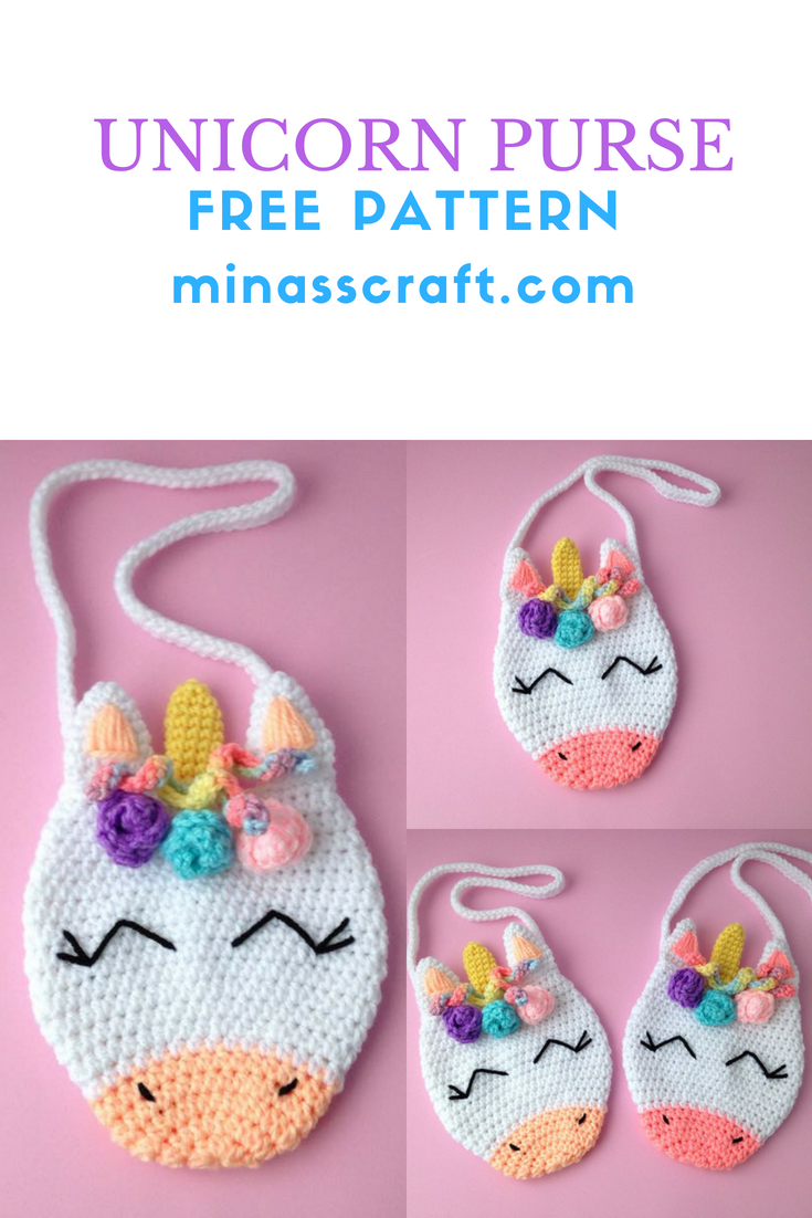 Unicorn Purse crochet free pattern | Crochet | Pinterest