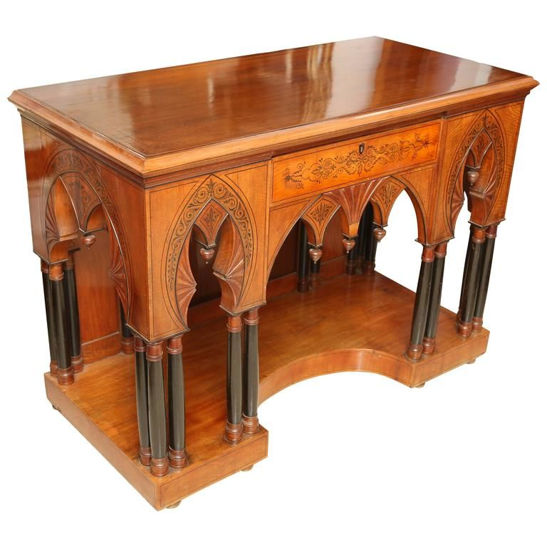 surprising Gothic Vanity For Sale Part - 14: Superb 1890u0027s Gothic Style Vanity or Console Table