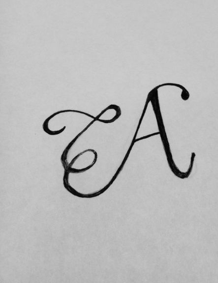 Hand-drawn Letter A  | Typography by Robin Budd via ScriptTease Blog
